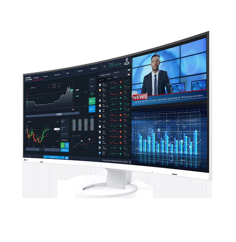 Pierwszy ultraszeroki monitor EIZO z zakrzywionym ekranem do profesjonalnych zastosowań biurowych