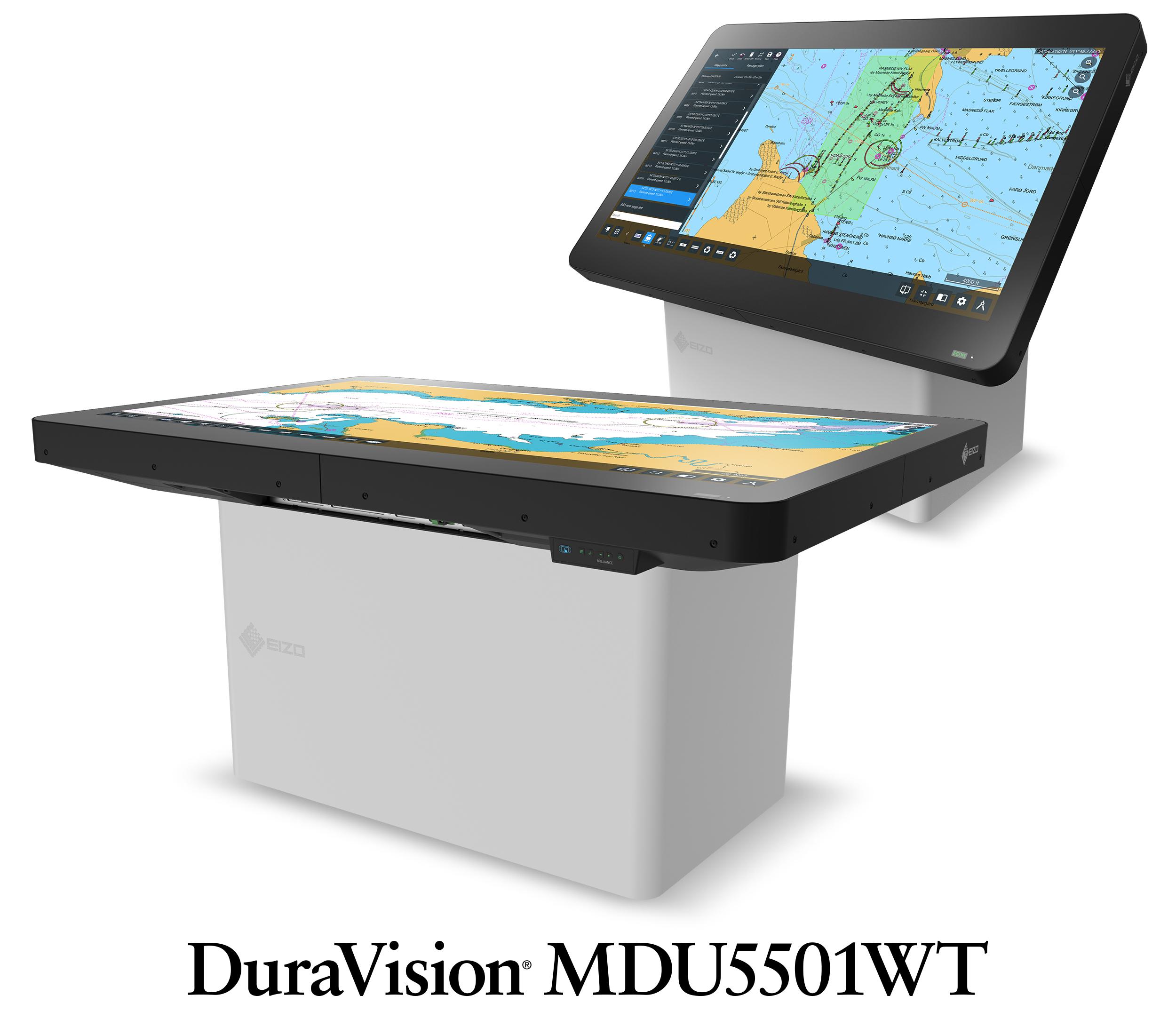 Nowy model EIZO do transportu morskiego: 55-calowy monitor nawigacyjny 4K UHD z panelem wielodotykowym
