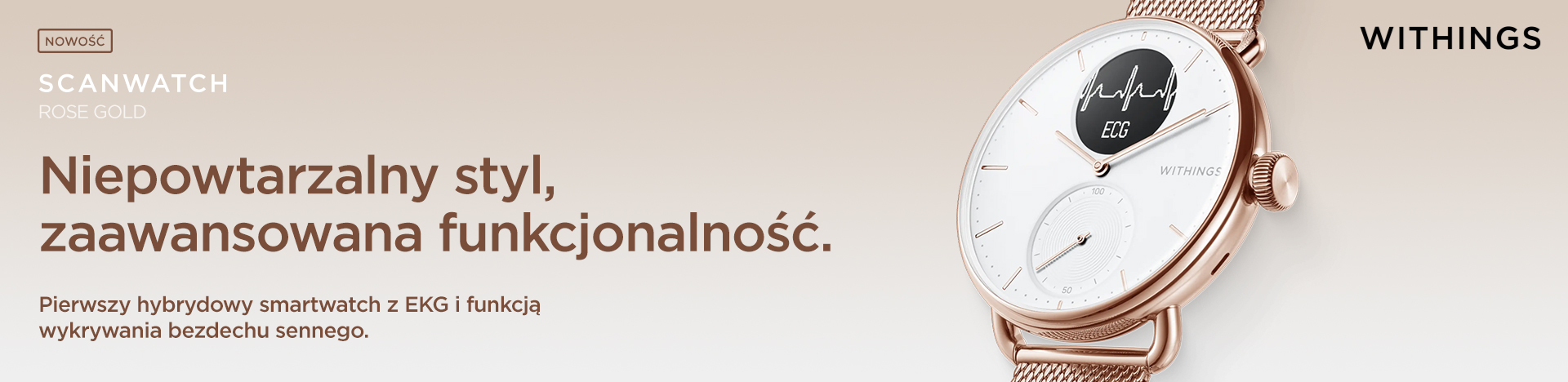 Withings Scanwatch 38mm Rose Gold